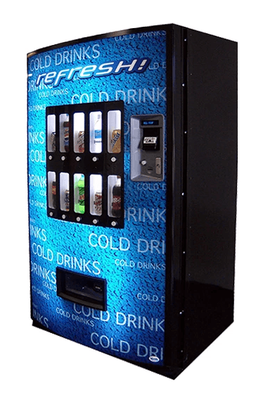 Vendo 721 blue refresh vending machine